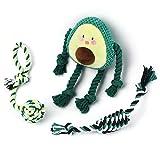 Toozey Welpenspielzeug Hundespielzeug Avocado - 3 Stk Hundespielzeug Unzerstörbar für Welpen &...