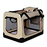 dibea Hundetransportbox Hundetasche Hundebox faltbare Kleintiertasche Größe (M) 60x42x44 cm Farbe...