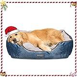 Docatgo Dog Bed, Pet Bed, Pet Bed with Reversible Cushion, Dog Basket,80 X 60 X 26 cm Machine...