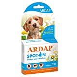 ARDAP Spot On - Zecken & Flohschutz für Hunde bis 10kg - Natürlicher Wirkstoff - 3 Tuben je 1ml -...
