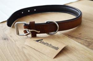 Hundehalsband aus Leder in braun