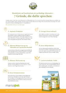 Infografik Insektenfutter für Hunde